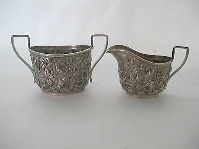 Magnificent Baltimore Repousse Cream & Sugar Sterling By Berry And Whitmore Co.