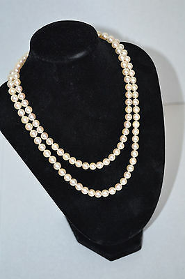 "Vintage Marshall Fields 30"" String Of High Grade Cultured Pearls"