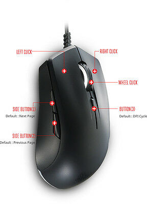 Mastermouse Lite S Ambidextrous Gaming Mouse With White Color Illumination