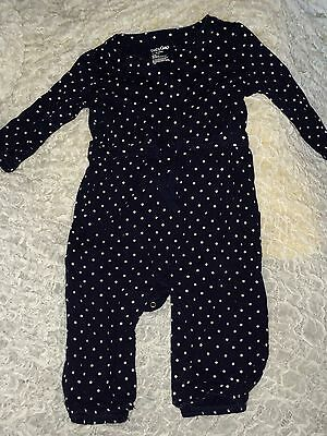 Baby Gap Blue And White Girl Polka Dot One Piece Outfit Size 12-18 Months