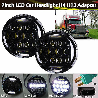 7'' LED Headlight For Freightliner CORONADO 2Pcs H4 H13 Hi/Lo Beam 150W Total