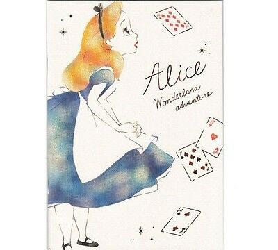 Japan Disney Alice in Wonderland Watercolor A5 Notebook Lined Page Writing Book