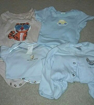 carter's boys sz 0-3 months multi color 4 piece mixed item lot of one pieces