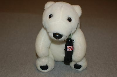 "Coca-Cola Polar Bear Plush Toy 7"" 1993 vintage"