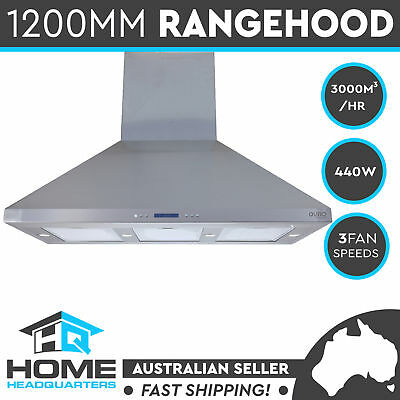 New Commercial Alfresco Twin Motor Canopy 1200MM  BBQ Kitchen Range Hood