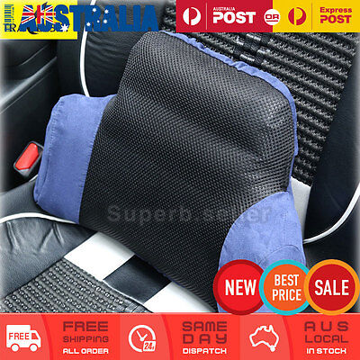 Inflatable Lumbar Back Support Cushion Pillow Home Car Office Waist Seat Chair