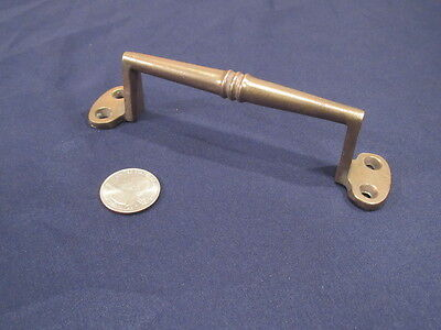 Large Antique Solid Cast Bronze Screen Door Handle Window Bin Pull  1910