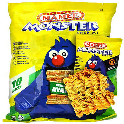 MAMEE MONSTER - CRUNCHY NOODLE SNACK CHICKEN FLAVOUR (10packs)