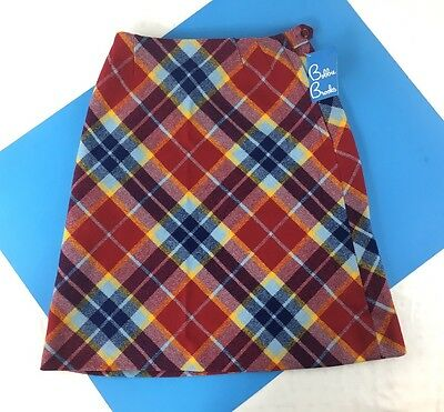 DEADTOCK NWT VINTAGE 60s BOBBIE BROOKS PLAID WOOL SKIRT JUNIOR FASHIONS RETRO