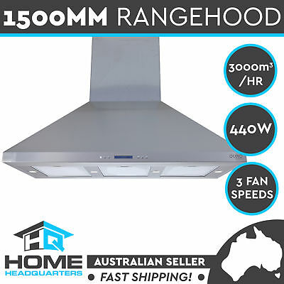 New Commercial Alfresco Twin Motor Canopy 1500MM  BBQ Kitchen Range Hood