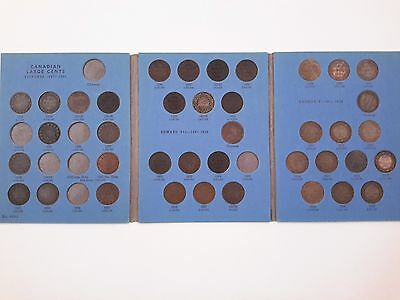 39 Canadian Large Cent Coins In Whitman Collection Book 1858 - 1920
