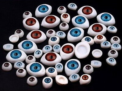 7mm Acrylic Doll Eyes Gray New Plastic Eye 100pc !!