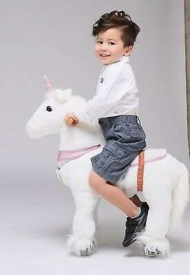 "UFREE Action Pony Ride on Toys Pink Unicorn 29""Small Size, Present for Kid 3-5"