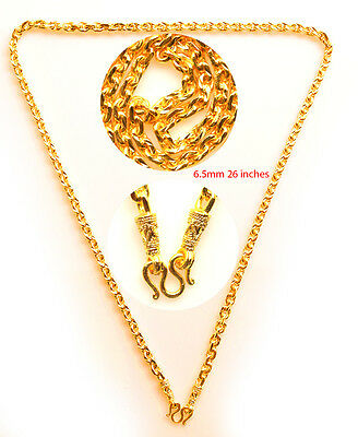 Necklace Gold plated micron 1 hook 26 inches for thai buddha amulet pendants F4