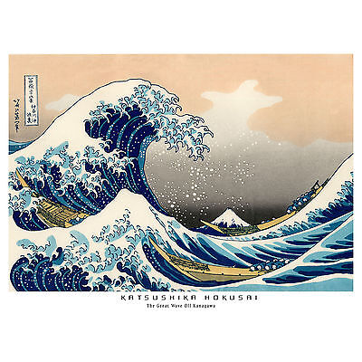 Hokusai Great Wave off Kanagawa Ukiyo-e Floating World Japanese Woodcut T-Shirt