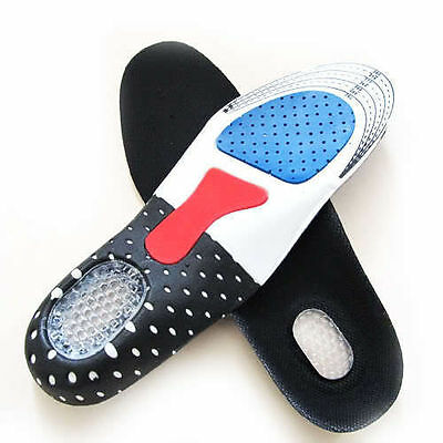 Unisex Orthopedic Massage Arch Support Insoles Sport Shock Absorb Gel Shoes Pad