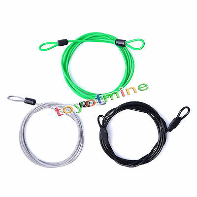 200CM x 2.5MM Cycling Sport Security Loop Cable Lock Bicycle Scooter U-Lock