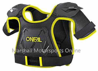 Oneal racing pee wee chest armour protection motorbike bmx hi vis XS/SM (4-7yrs)