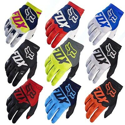 Sports Racing Cycling Motorcycle MTB Bike Bicycle Full Finger FOX Gloves M/L/XL