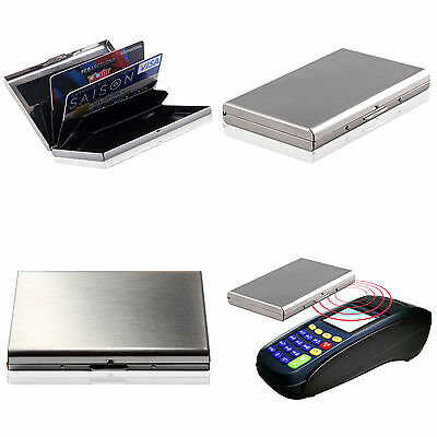 Men Women Aluminum Slim ID Credit Card RFID Protector Holder Purse Wallet UK