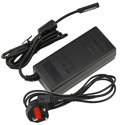 AC Charger For Microsoft Surface 1, Surface Pro 2 1536 + UK Mains Power Supply 1