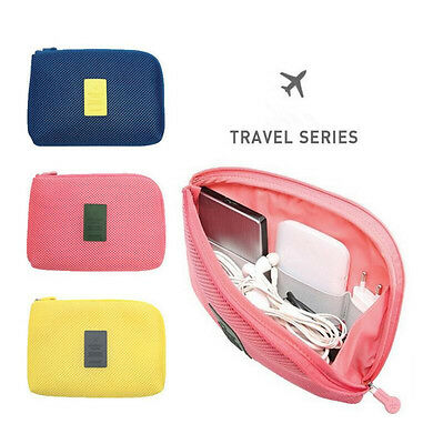 Portable Storage Case Travelling Bag For Earphone USB Cable cosmetics SD Card
