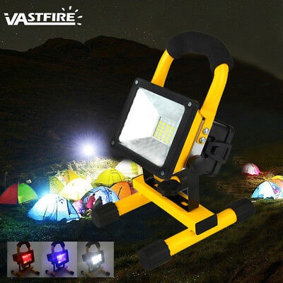 30W 24LED Rechargeable Flood Light IP65 Waterproof Portable Work Lamp Fishing AU