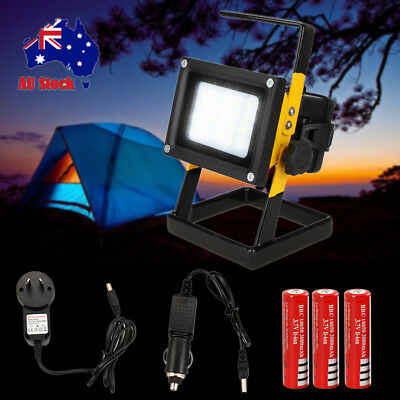 Rechargeable 30W 20LED Portable Floodlight Spot Light Work Lamp Fishing 3x18650