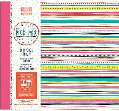 """Pic n Mix First Edition Scrapbook  Memory Photo Album - 8"""" x 8"""" - Free Post"""