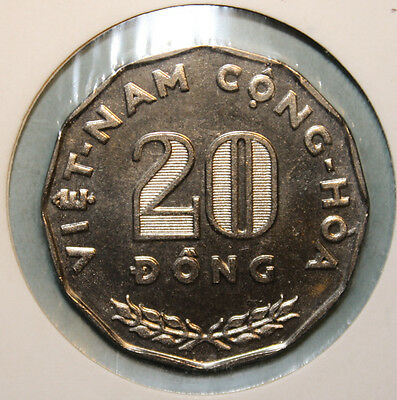 Vietnam 20 Dong 1968 Brilliant Uncirculated Coin - Regular Issue