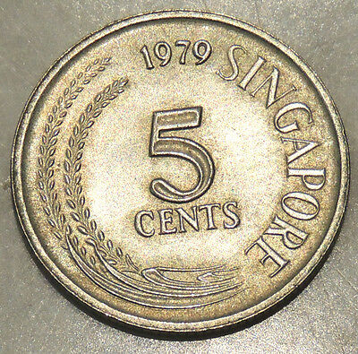 Singapore - Five Cent Coin - 1979 - Reasonable Cond For Age