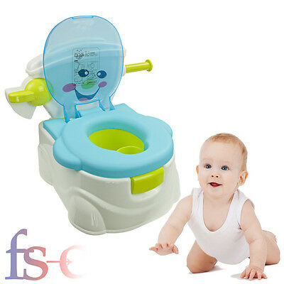 Toddler Potty Training Seat Baby Kids Fun Toilet Trainer  Chair Blue New