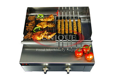 2 Burner Charcoal Grill Char Grill Heavy Duty Commercial Use
