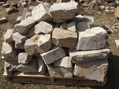 PALLET FULL OF CUT WHITE STONE IDEAL GARDEN WALLS,FOUNDATIONS120yrOLD HOUSE RARE