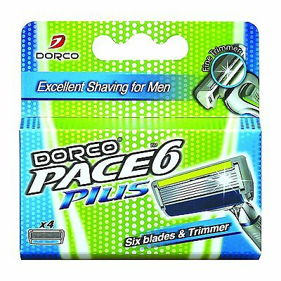 DORCO PACE 6 PLUS Replacement Cartridges 4 Count (Without handle)