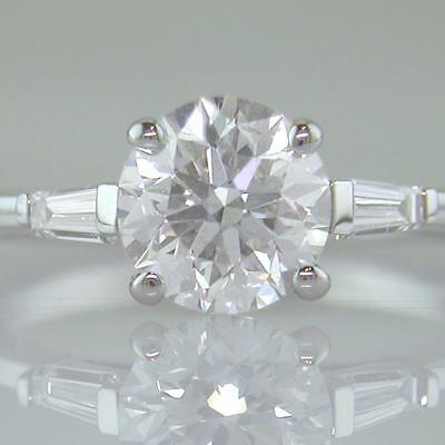 Diamond Solitaire Ring 1.70ct Certified D Exc Exc Exc Brilliant 18ct White Gold