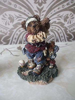 Boyds Bears Resin ARNOLD P BOMBER THE DUFFER Golf Bearstone Collection LTD ED