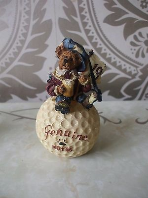 Boyds Bears Resin Masters McDuffer 19th Hole Golf Bearstone Collection LTD ED