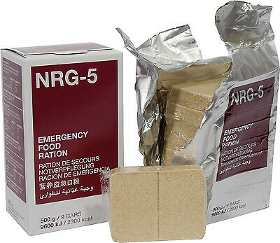 3X 500G Boxes NRG 5 Emergency Food Ration Biscuits NATO Army Outdoor Survival