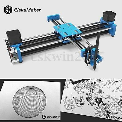 EleksMaker EleksDraw Pro 2 Axis Laser in Metallo Incisore CNC Engraver Incisione