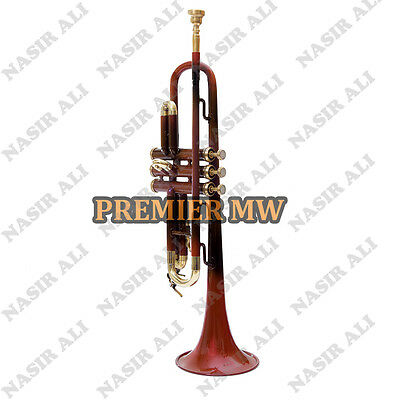 B-Flat Trumpet For Sale Brown Lacquered With Free Hard Case And Mouthpiece