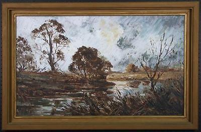 Otto Kuster (1941-) Large Original Oil Painting on board with frame