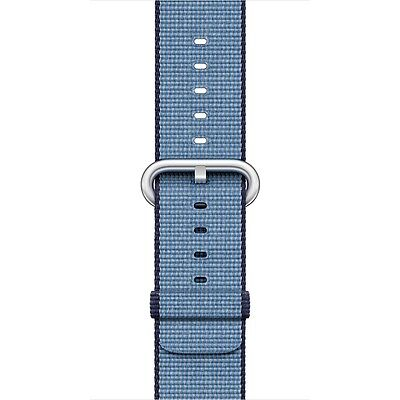 Apple - Woven Nylon for Apple Watch 42mm - Navy/Tahoe Blue MP232AM/A