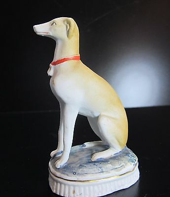 Super Realistic GREYHOUND dog figurine Vintage hand painted excellent condition