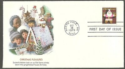 Us Fdc 1979 Christmas Pleasures 15C Stamp Fleetwood First Day Of Issue Cover