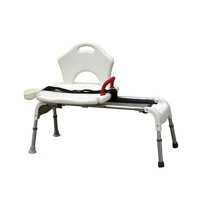 Bath Tub Shower Sliding Transfer Bench Chair Handicapped Elderly Assistance Seat