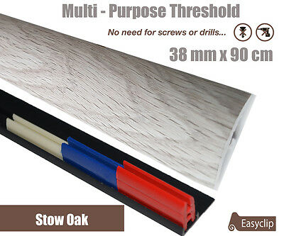 Stow Oak Laminate Transition Door Strip 38mm x 90cm Multi-Height and Pivot New