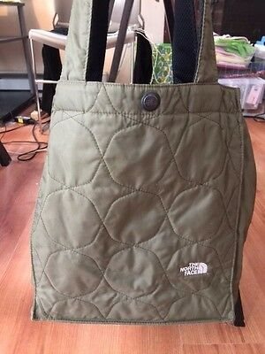 The North Face Green Book Bag or Lunch Bag