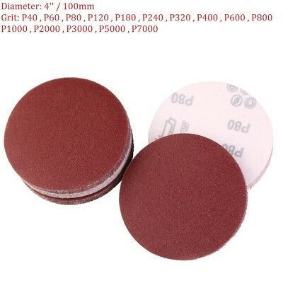 4'' 100mm Sandpaper Sanding Disc Hook And Loop Abrasive Paper 40 - 7000 Grit