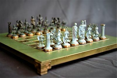 Manopoulos Greek & Roman Armies Chess Set and Board.